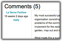 Screenshot of course comments and discussions